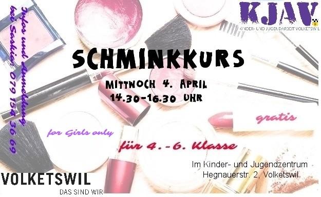 Flyer Schminkkurs